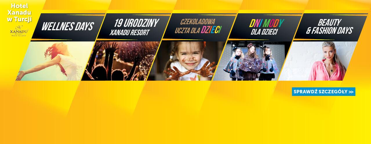 Xanadu Resort - Kalendarz eventów