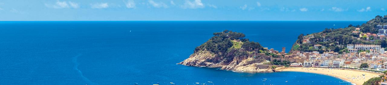 Costa Brava - widok na Tossę