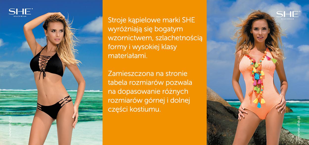 Kostium kąpielowy marki SHE